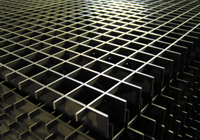 Steel floor gratings